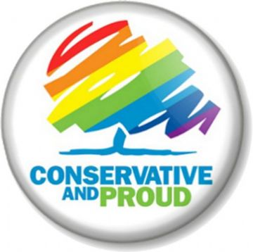 Conservative and Proud Pinback Button Badge General Election Political Party Torys